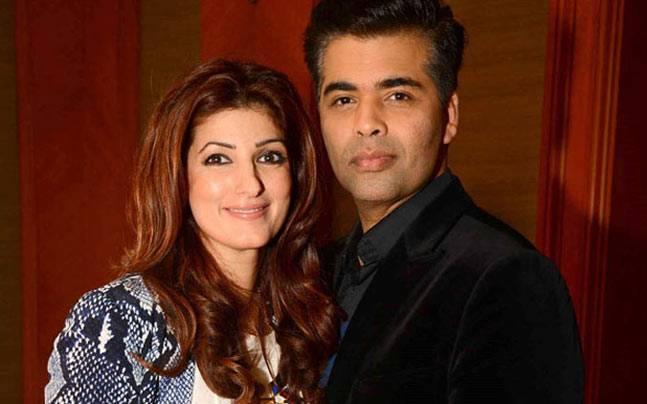 Twinkle khanna with karan johar